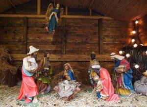 Krippe mit Jesuskind