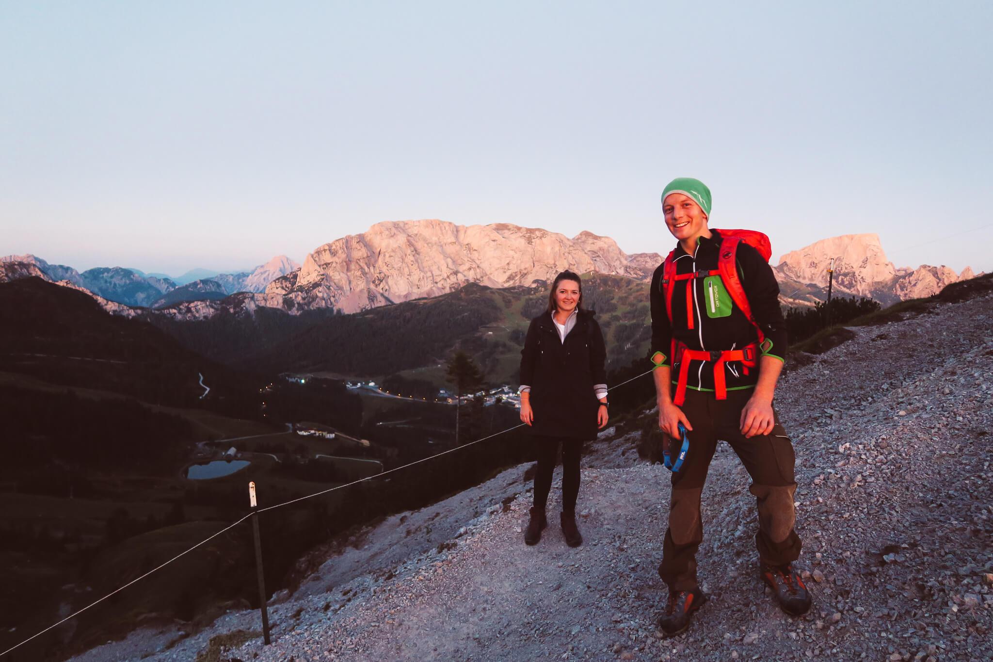 Sonnenaufgangswanderung mit Juniorchef Michi vom Naturidyll Hotel Presslauer