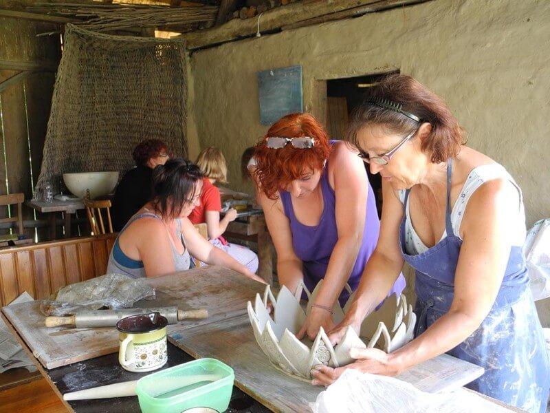 Tonarbeit in der Landhofmühle