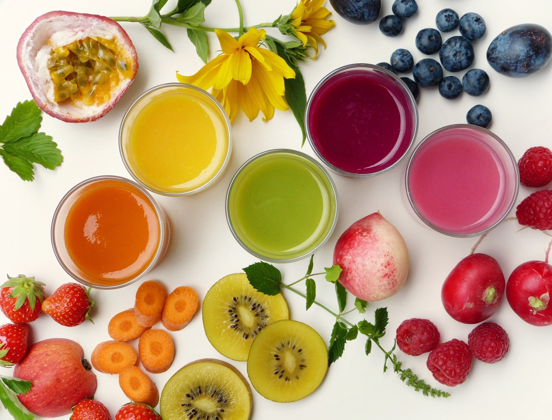 Viel Obst und Gemüse für ein starakes Immunsystem
