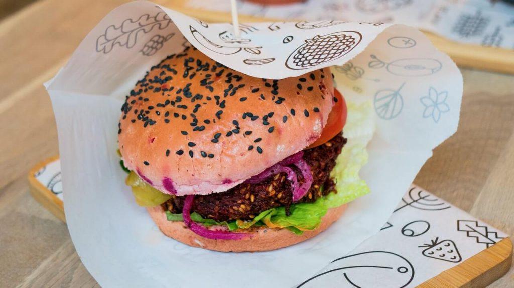 Burger in Papier