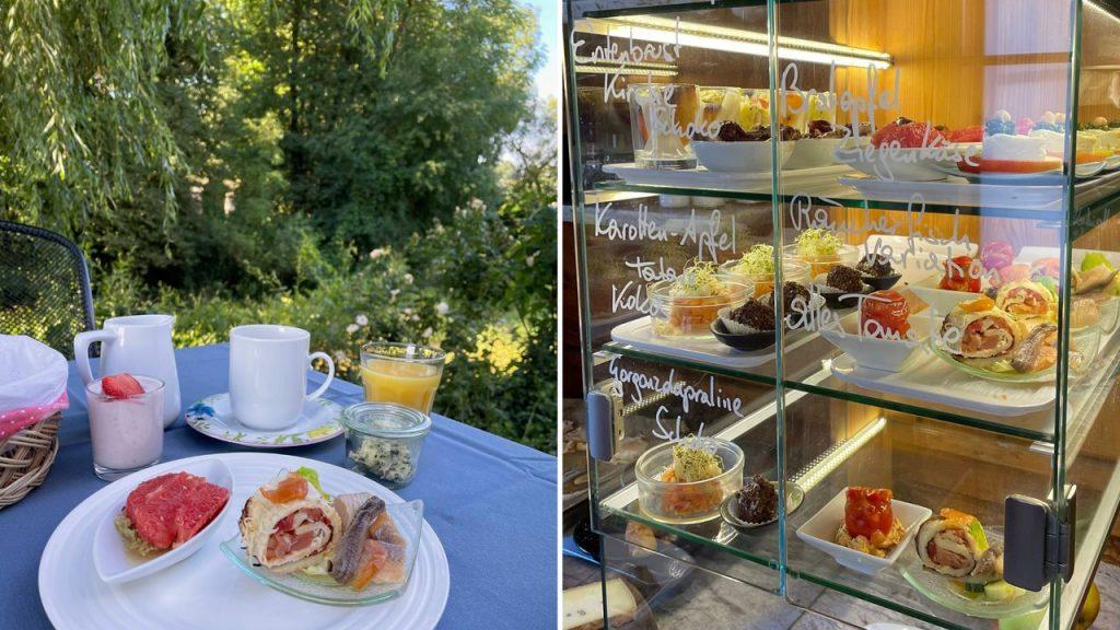 Frühstück im Hotel Landhofmühle