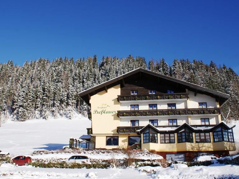 Naturidyll Hotel Presslauer im Winter